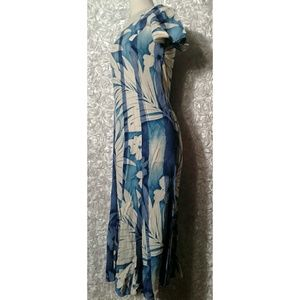 Jams world blue and white floral long Dress size S